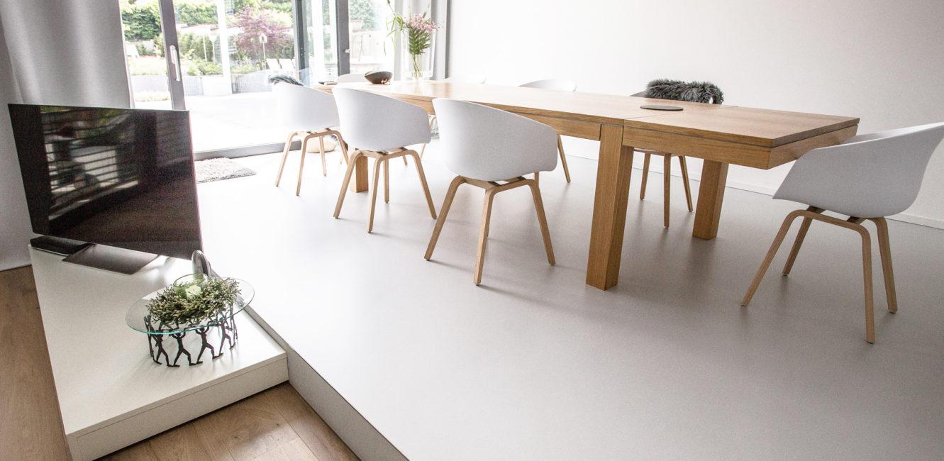 Beton Floor und Beton Wall bestechen durch zurückhaltende Ästhetik