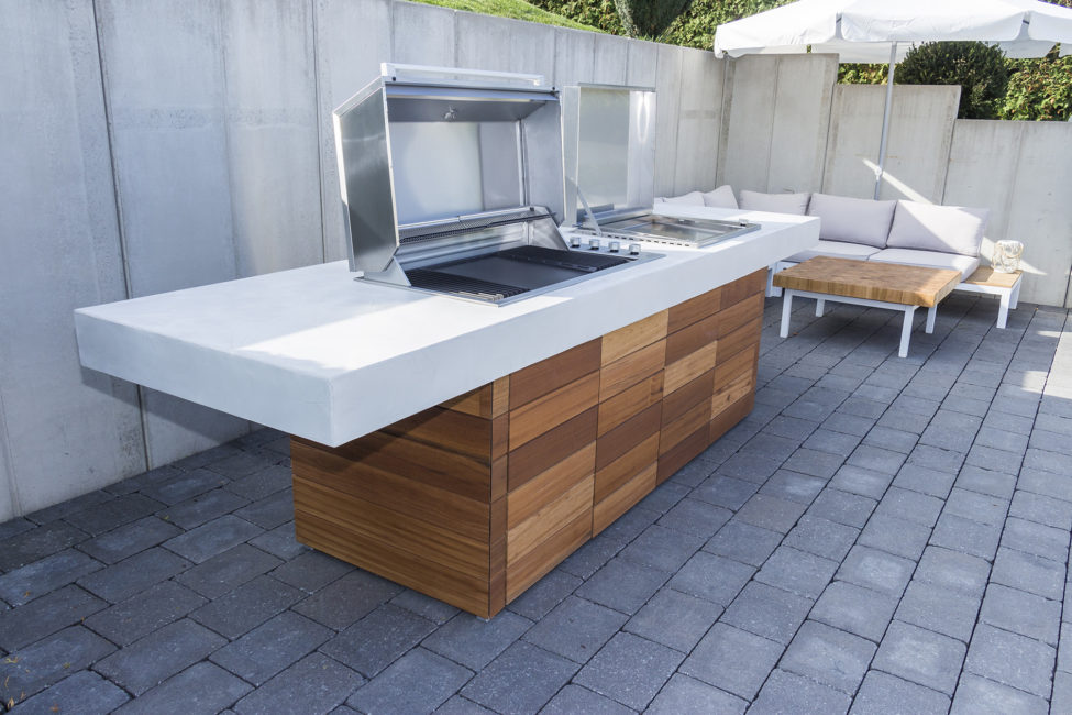Outdoor-Küche, Material: Microtopping,