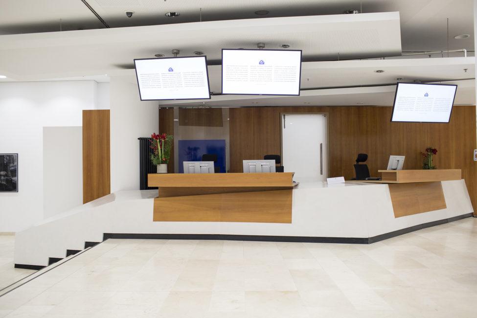 Europäische Zentralbank, Material: Microtopping, Verarbeitung: LifeBoXX