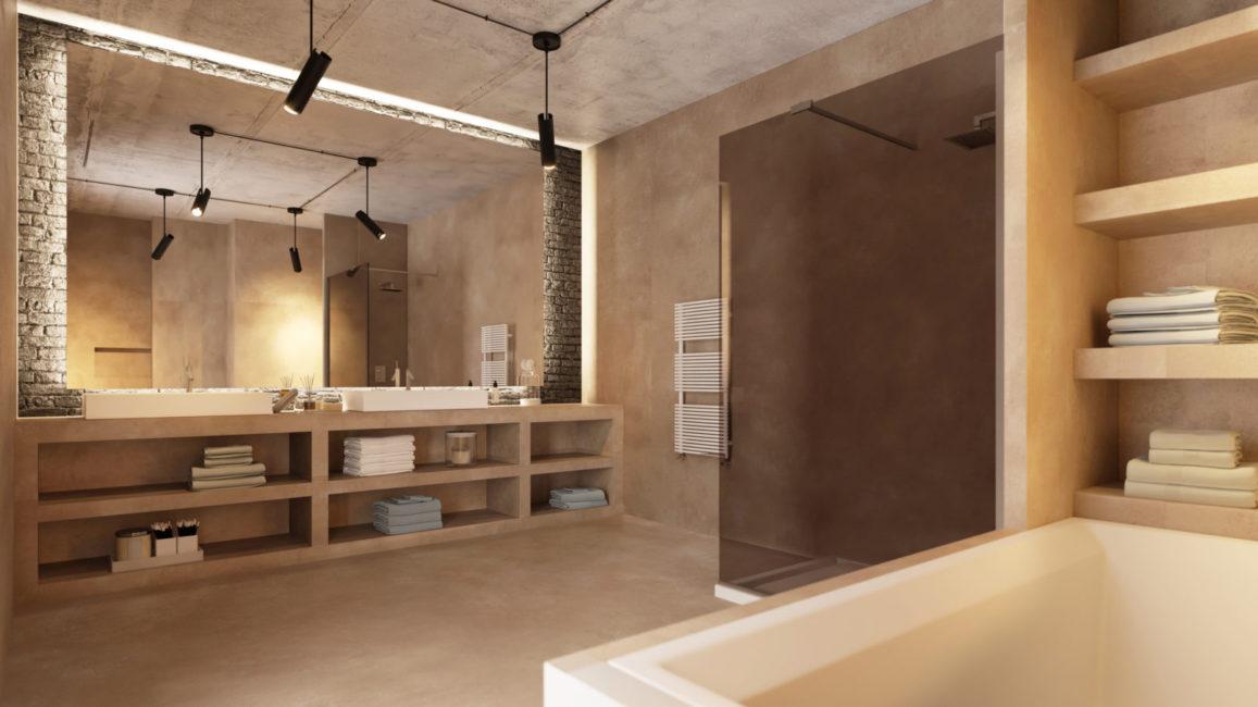 Material: Beton Floor und Wall
